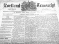 1870 Portland Transcript newspaper Maine USA Oct29.png