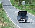 1911 De Dion-Bouton convertible car on the A458, Claverley, Shropshire.jpg