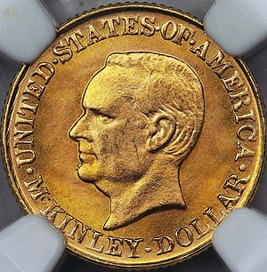 McKinley Birthplace Memorial dollar