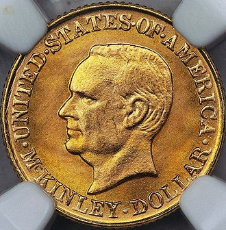 McKinley Birthplace Memorial dollar - Image: 1917 Mc Kinley dollar obverse