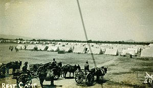 1935 Quetta earthquake - Image: 1935 Balochistan tent city