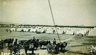 1935 Quetta earthquake - Image: 1935 Balochistan tent city