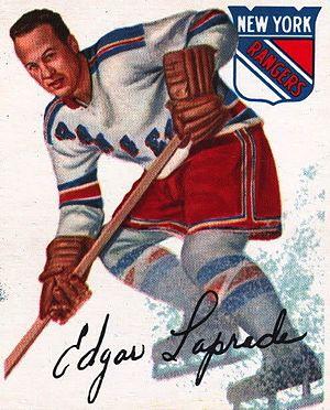 Edgar Laprade - Image: 1954 Topps Edgar Laprade