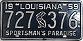 1959 Louisiana license plate.JPG