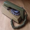 1969 GPO 1722F MOD Grey & Green Rotary Dial Trimphone Telephone.JPG