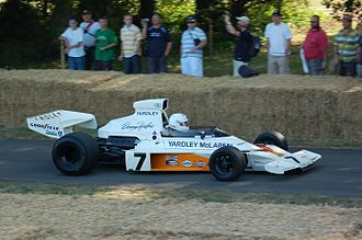 McLaren M23 - Denny Hulme's 1973 McLaren-Ford M23 being demonstrated at the Goodwood Festival of Speed
