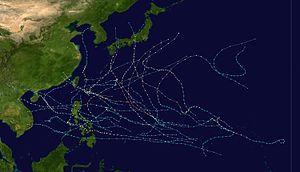 1982 Pacific typhoon season - Image: 1982 Pacific typhoon season summary