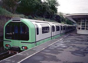 London Underground 1986 Stock - Image: 1986 Prototype Green South Ealing