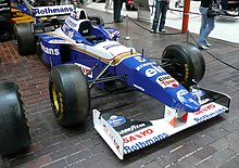 Photo de la Williams FW18 de Damon Hill exposée au musée automobile de Beaulieu