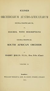 1 Harry Bolus - Orchids of South Africa - volume II (1911) - Title 3.jpg
