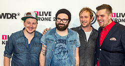 Jupiter Jones bei der 1 Live Krone 2013.