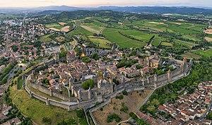 Carcassonne - Panorama of the Cité de Carcassonne