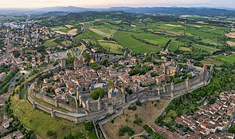 Carcassonne - Panorama of the Cité de Carcassonne