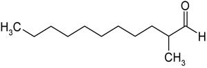 Strukturformel von 2-Methylundecanal