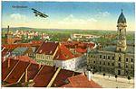 20010-Großenhain-1916-Blick auf Großenhain mit Aeroplan-Brück & Sohn Kunstverlag.jpg