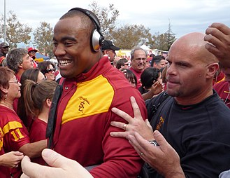 Everson Griffen - Griffen heading into Notre Dame Stadium with then-defensive coor. Nick Holt.