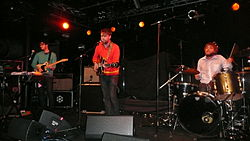Frightened Rabbit uppträder vid Nottingham Rock City november 2008