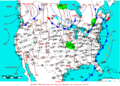 2009-05-30 Surface Weather Map NOAA.png