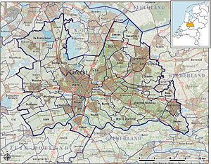 Utrecht (province) - Map of the province of Utrecht (2012)