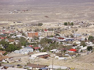 Tonopah, Nevada - View of central Tonopah from the south
