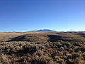 2014-10-04 17 54 16 View of Jarbidge Peak, Nevada from Three Creek Road in Owyhee County, Idaho.JPG