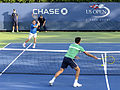 2014 US Open (Tennis) - Qualifying Rounds - James Ward and Vincent Millot (15037473992).jpg