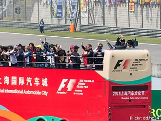 2015 Chinese Grand Prix - The drivers went around the track for the drivers' parade shortly before the race.