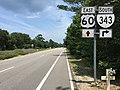 2017-07-12 13 36 30 View east along U.S. Route 60 (Shore Drive) at Virginia State Route 343 within First Landing State Park in Virginia Beach, Virginia.jpg