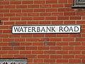 2018-04-06 Street name sign, Waterbank Road, Sheringham.JPG