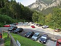 2018-08-29 (225) View from the valley station of the Raxseilbahn to the parking area, Rax, Austria.jpg
