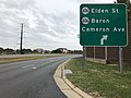 2018-10-26 13 12 47 View south along Virginia State Route 286 (Fairfax County Parkway) at the exit for Virginia State Route 606 (Elden Street-Baron Cameron Avenue) in Reston, Fairfax County, Virginia.jpg