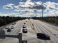 2018-10-29 14 27 00 View south along Virginia State Route 286 (Fairfax County Parkway) from the overpass for the Washington and Old Dominion Railroad Trail in Reston, Fairfax County, Virginia.jpg