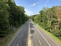 2019-09-02 16 35 42 View north along U.S. Route 1 (Jefferson Davis Highway) from the overpass for Russell Road in Marine Corps Base Quantico, Prince William County, Virginia.jpg