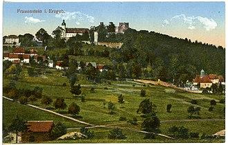 Frauenstein, Saxony - Image: 21934 Frauenstein 1921 Blick auf Frauenstein Brück & Sohn Kunstverlag