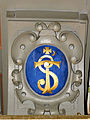 250513 Heraldic cartouche in the chapel of the castle in Baranow Sandomierski - 04.jpg