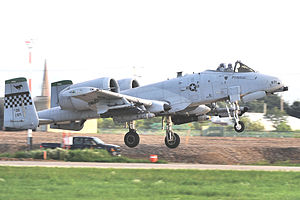 Seventh Air Force - Image: 25th Fighter Squadron Fairchild Republic OA 10C Thunderbolt II 81 0971