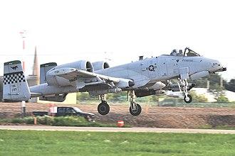 Seventh Air Force - Image: 25th Fighter Squadron Fairchild Republic OA 10C Thunderbolt II 81 0971