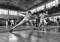 2nd Leonidas Pirgos Fencing Tournament. Lunge by Lampros Dimitropoulos, 4th parry by Stergios Delis.jpg