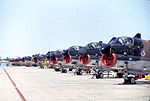 355th Tactical Fighter Wing A-7D Corsair IIs on flightline.jpg