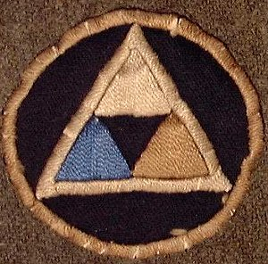"39th Infantry Division (United States) - Unauthorized World War 1 39th ""Delta"" Division shoulder sleeve insignia"