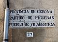 434 Rètol indicador a l'entrada de Vilabertran.JPG