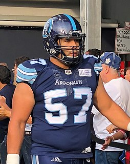 Tyler Holmes Professional Canadian football offensive lineman