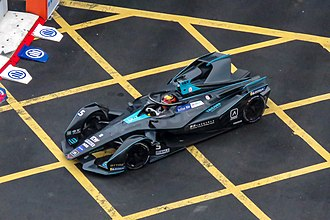 Formula racing - Stoffel Vandoorne driving a Gen2 Formula E car at the 2019 Hong Kong ePrix.