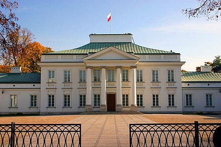 Belweder Palace, Warsaw, Pilsudski's official residence during his years in power 5 Warszawa 083.jpg