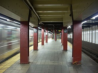 42nd Street–Bryant Park/Fifth Avenue (New York City Subway) - The IRT Flushing Line platform