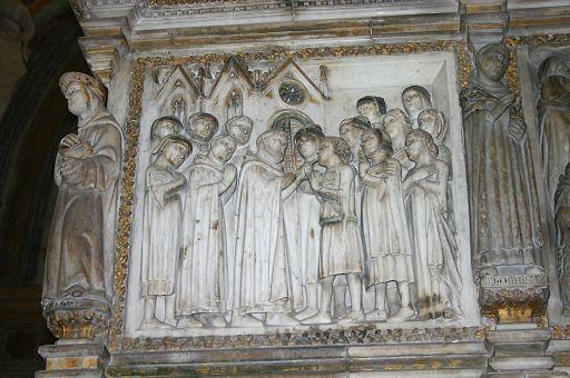6257 - MI - Cappella Portinari - Arca S. Pietro - Retro - Foto Giovanni Dall'Orto 1-Mar-2007