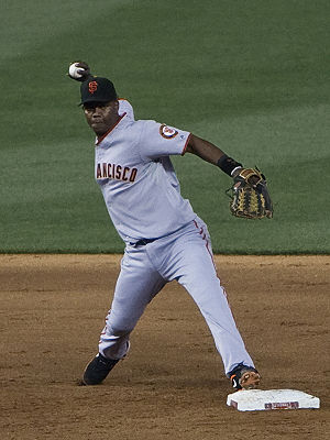 Édgar Rentería - Rentería playing for the Giants in June 2009