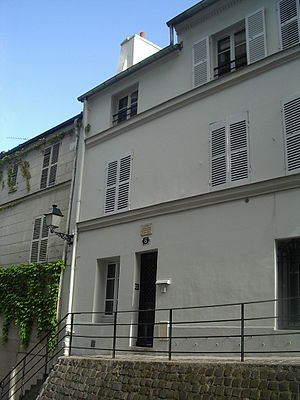Messe des pauvres - 6 Rue Cortot in Montmartre, Paris, where Satie lived from 1890 to 1898. The Messe des pauvres was composed here