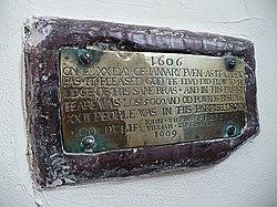 Photo of Bristol Channel floods 1607 brass plaque