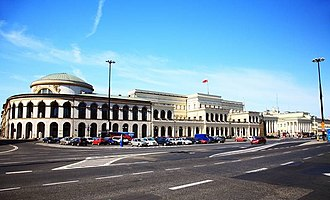 Neoclassical architecture in Poland - Bank Square, Warsaw (1825)